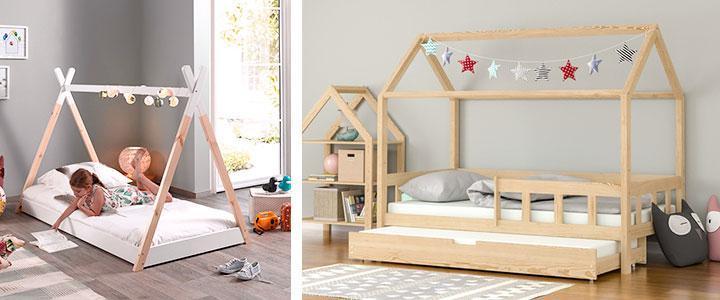 Camas infantiles Montessori para niños y niñas para comprar baratas